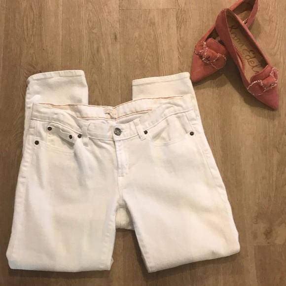J.Crew White Cotton Denim Stretch Jeans - sz 30